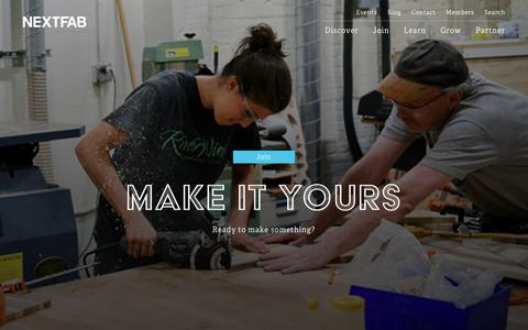 Screenshot of Signup Page nextfab.com - NextFab | Join Our Makerspaces | Philadelphia & Wilmington - captured Oct. 29, 2017