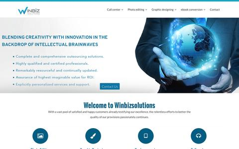 Call center, photo editing, graphic design, eBook conversion | Winbizsolutions
