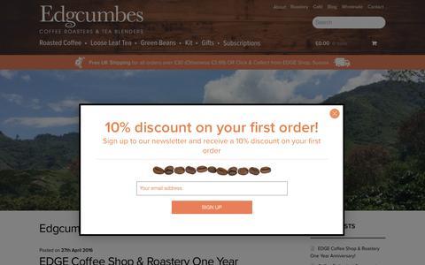 Screenshot of Blog edgcumbes.co.uk - Edgcumbes Blog - Edgcumbes - Coffee Roasters & Tea Blenders - captured Oct. 25, 2016