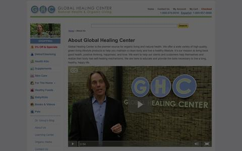 Screenshot of About Page globalhealingcenter.com - About Us - captured Sept. 18, 2014