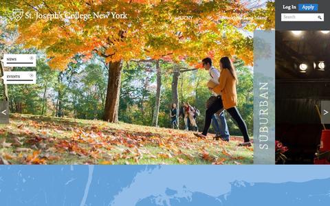 Screenshot of Home Page sjcny.edu - St. Joseph's College - captured Sept. 25, 2014