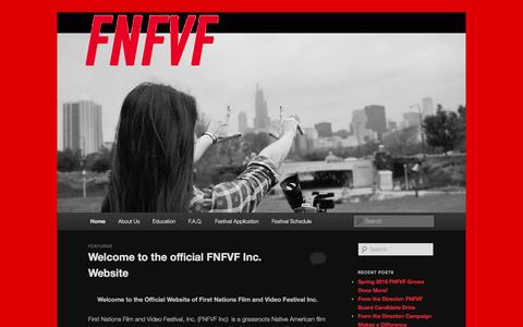 Screenshot of Blog fnfvf.org - First Nations Film and Video Festival, Inc. | Native. American. Film. - captured Feb. 10, 2016