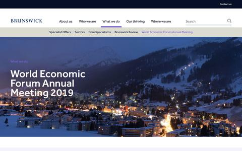 Screenshot of Signup Page brunswickgroup.com - World Economic Forum Annual Meeting | Brunswick - captured Jan. 25, 2019