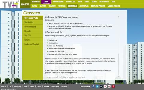 Screenshot of Jobs Page tvh.in - Careers   TVH - captured Oct. 9, 2014