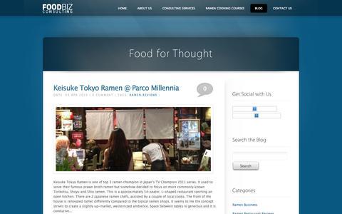 Screenshot of Blog foodbiz.sg - Blog ‹ foodbiz.sg - captured Oct. 1, 2014