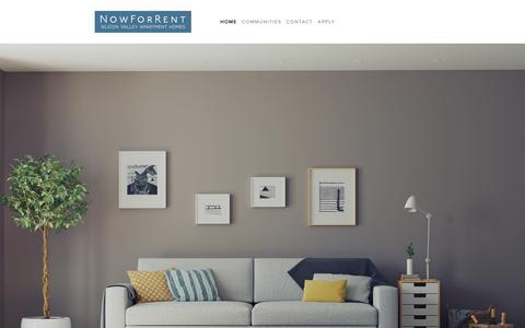 Screenshot of Home Page nowforrent.com - NowForRent - captured Oct. 25, 2018