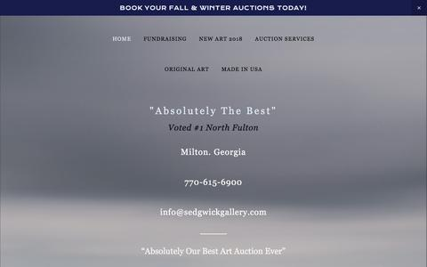 Screenshot of Home Page sedgwickgallery.com - Art Auction Services - captured Sept. 20, 2018