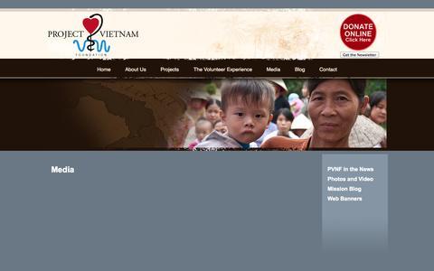 Screenshot of Press Page projectvietnam.org - Media  @  Project Vietnam Foundation - captured Oct. 3, 2014