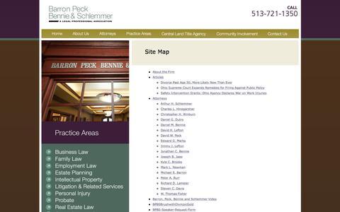Screenshot of Site Map Page bpbslaw.com captured Nov. 22, 2016