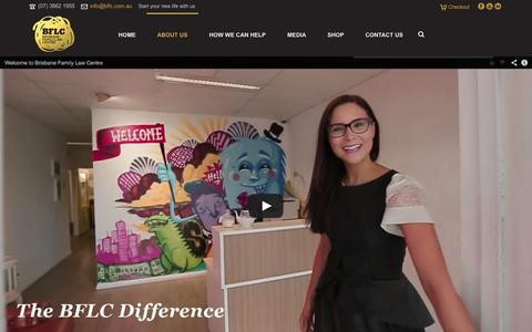 Screenshot of About Page bflc.com.au - About Us - Brisbane Family Law Centre - captured Oct. 5, 2014