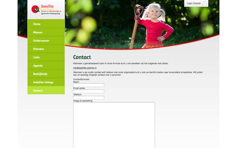Screenshot of Contact Page satellite-partner.nl - Contact | Satellite - captured Oct. 3, 2014