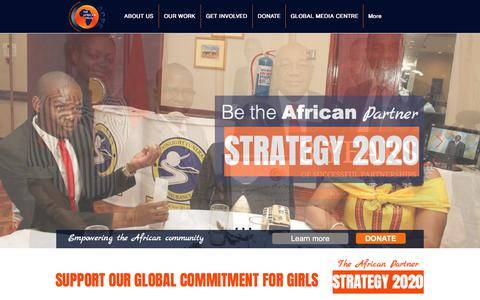 Screenshot of Home Page acfegroup.org - African Community Fund for Education Group   acfegroup.org - captured Oct. 7, 2017