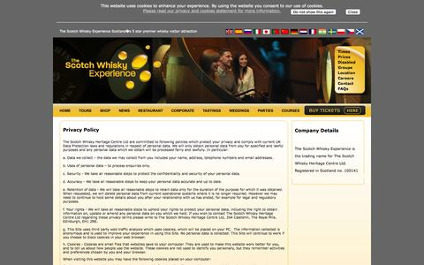 Screenshot of Privacy Page scotchwhiskyexperience.co.uk - The Scotch Whisky Experience - Contact Us - captured Oct. 6, 2014