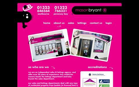 Screenshot of About Page masonbryant.co.uk - masonbryant - About us - captured Oct. 27, 2014