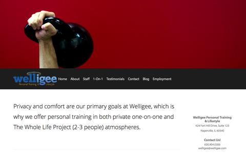 Screenshot of Services Page welligee.com - Services — Welligee Personal Training & Lifestyle - captured Oct. 26, 2014