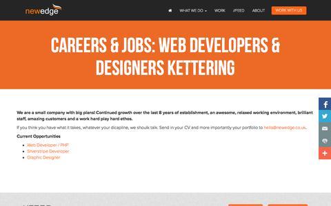 Screenshot of Jobs Page newedge.co.uk - Careers & Jobs: Web Developers & Designers Kettering - captured Oct. 9, 2014
