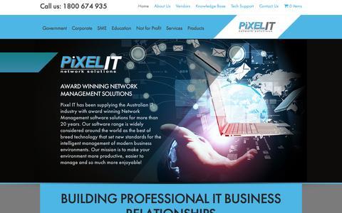 Screenshot of Home Page pixel.com.au - Pixel IT Network Solutions   Award Winning Network Management Solutions - captured Jan. 23, 2015