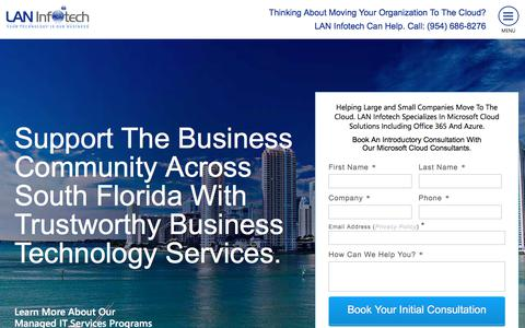 Screenshot of Site Map Page laninfotech.com - #1 Fort Lauderdale IT Support & Computer Services ⋆ Lan Infotech - captured Sept. 19, 2019