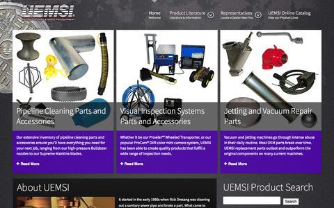 Screenshot of Home Page uemsi.com - UEMSI - UEMSI - captured Sept. 30, 2014
