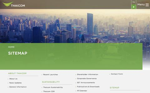 Screenshot of Site Map Page thaicom.net - Sitemap   Thaicom Public Company Limited - captured June 13, 2017