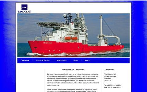 Screenshot of Home Page zenocean.com - Zenocean - Home - captured Sept. 30, 2014