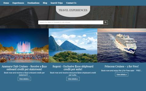 Screenshot of Products Page superiortravel.com - Our Products | Superior Travel Consultants LLC  - captured Oct. 20, 2018