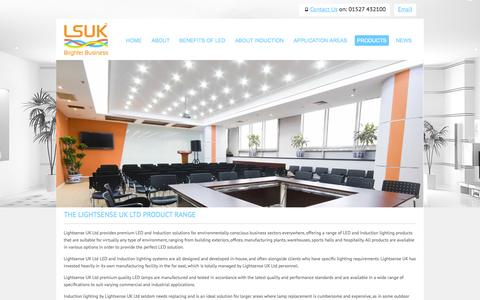 Screenshot of Products Page lsuk.com - LSUK Product Range | Manufacturer and supplier of high quality commercial LED and induction lighting. - captured Oct. 2, 2014