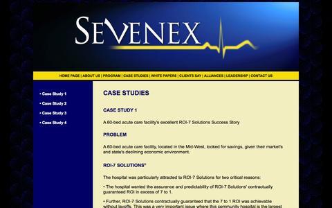 Screenshot of Case Studies Page thesevenexgroup.com - CASE 1 - captured Oct. 9, 2014