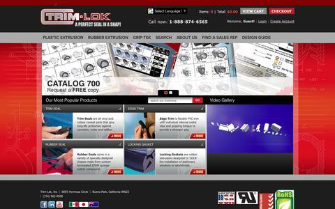 Screenshot of Home Page trimlok.com - Plastic & Rubber Trim & Seals | Rubber Molding & Window Trim | Trim-Lok - captured Nov. 9, 2017