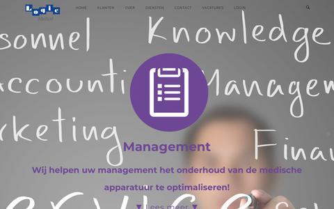 Screenshot of Team Page logicmedical.nl - Management – Logic Medical - captured Sept. 29, 2018