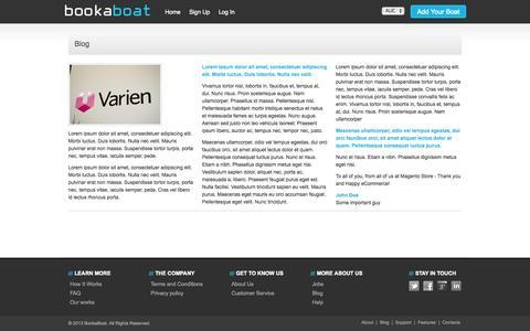 Screenshot of Blog bookaboat.com.au - Blog - captured Oct. 23, 2014