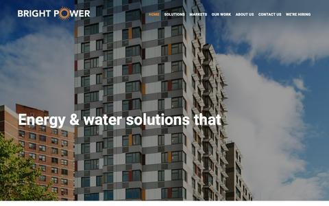 Screenshot of Home Page brightpower.com - Bright Power - Your Energy & Water Management Partner - captured Feb. 6, 2019