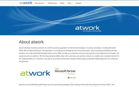 Screenshot of Team Page atwork-it.com - About atwork - atwork - captured Oct. 24, 2018
