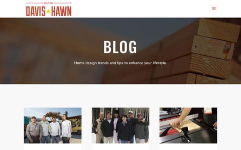 Screenshot of Blog davis-hawn.com - BLOG - Davis Hawn - captured July 5, 2019