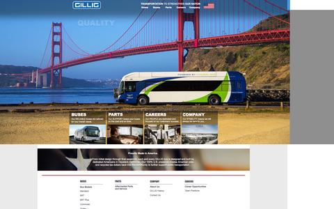 Screenshot of Home Page gillig.com - GILLIG - captured Sept. 26, 2014