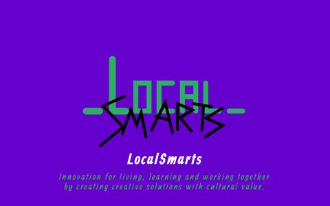 Screenshot of Home Page localsmarts.org - LocalSmarts - Innovation for living, learning and working together by creating creative solutions with cultural value. : LocalSmarts - captured Sept. 19, 2015