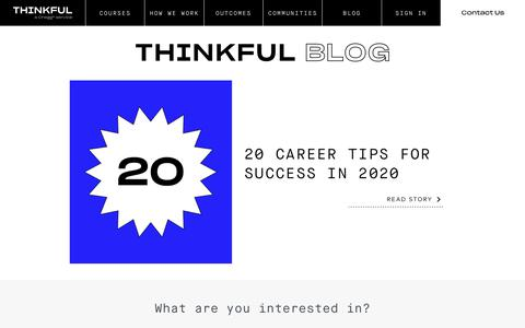 Screenshot of Blog thinkful.com - Thinkful - captured Jan. 11, 2020