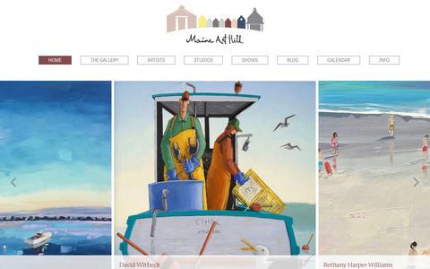 Screenshot of Home Page maine-art.com - Maine Art Hill - captured July 3, 2018