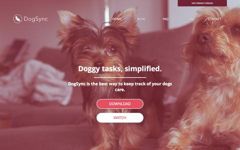 Screenshot of Home Page dogsync.com - DogSync: Task management for dogs, simplified. - captured Nov. 3, 2015