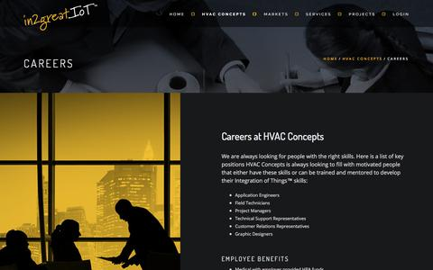 Screenshot of Jobs Page hvacc.net - CAREERS - captured Sept. 26, 2018