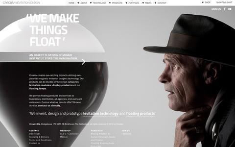 Screenshot of Home Page crealev.com - We make things float - CREALEV - captured May 22, 2017