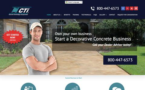 Screenshot of Home Page flycti.com - Starting a Concrete Business - Easiest Business to Start - captured Aug. 13, 2017