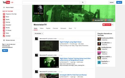 Screenshot of YouTube Page youtube.com - MorovisionTV  - YouTube - captured Oct. 25, 2014
