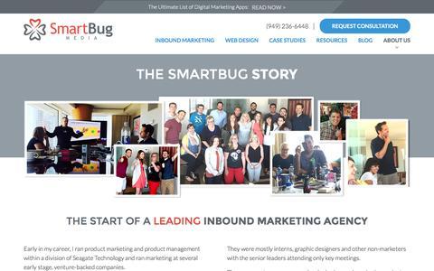 Screenshot of About Page smartbugmedia.com - Leading Inbound Marketing Agency   About SmartBug Media   Our Team - captured Dec. 5, 2015