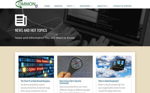 Screenshot of Press Page commond.com - News   COMMONd - captured July 9, 2017