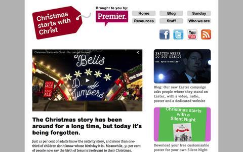 Screenshot of Home Page christmasstartswithchrist.com - Christmas Starts with Christ - captured April 15, 2016