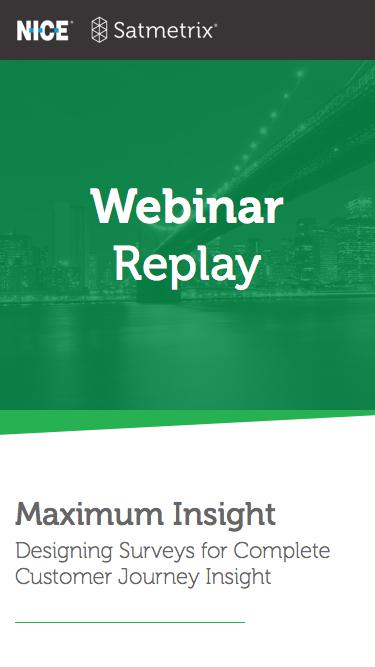 Satmetrix Webinar Registration: Customer Journey Survey Design