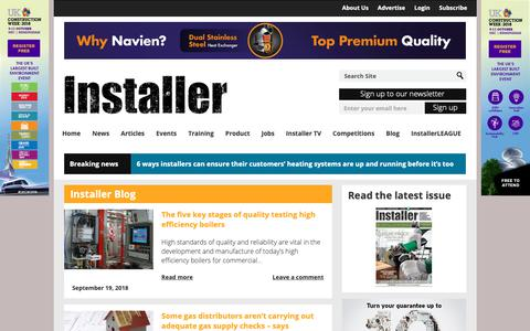 Screenshot of Blog installeronline.co.uk - Installer Blog Archives - Installer OnlineInstaller Online - captured Oct. 12, 2018