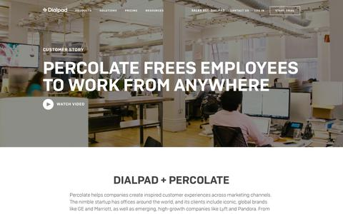 Percolate frees employees to work from anywhere with Dialpad