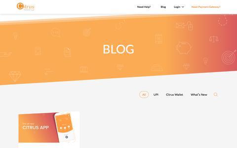 Screenshot of Blog citruspay.com - Blog – Citrus Consumer App - captured Nov. 21, 2017